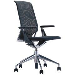 Vitra Meda Chair in Nero Netweave and Nero Nova Seat by Alberto Meda