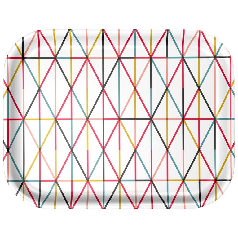 Vitra Medium Classic Tray in Multi-Color Grid by Alexander Girard, 1stdibs NY For Sale
