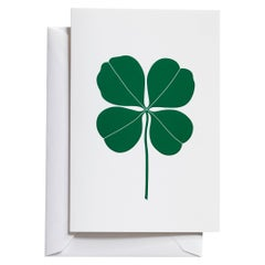 Vitra Medium Greeting Cards with Green Four Leaf Clover by Alexander Girard