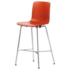 Vitra HAL Stool Medium in Orange Seat Shell by Jasper Morrison