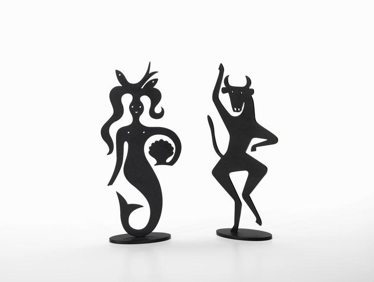 Modern Vitra Mermaid Silhouette in Black by Alexander Girard, 1stdibs New York For Sale