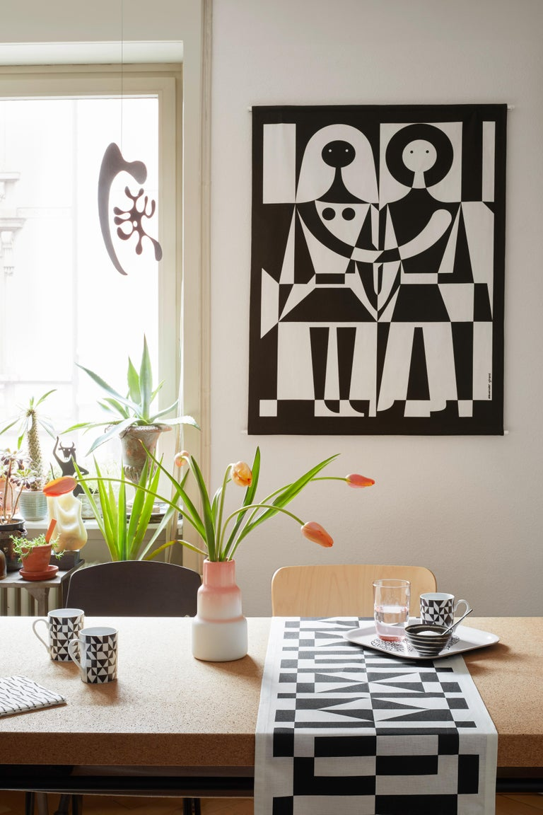 Vitra Mermaid Silhouette in Black by Alexander Girard, 1stdibs New York In New Condition For Sale In New York, NY
