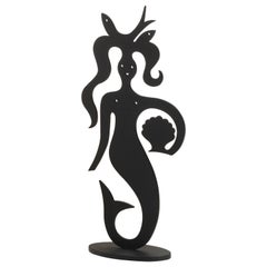 Vitra Mermaid Silhouette in Black by Alexander Girard, 1stdibs New York
