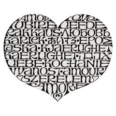 Vitra Metal Wall Relief International Love Heart by Alexander Girard, 1stdibs NY