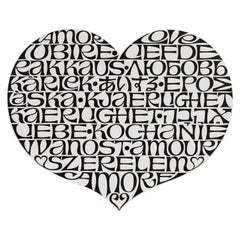 Vitra Metal Wall Relief International Love Heart by Alexander Girard