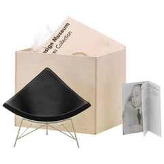 Vitra Miniature Coconut Chair in Black with Chrome Legs by George Nelson