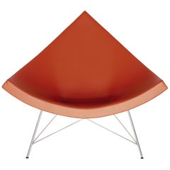 Vitra Miniature Coconut Chair in Orange with Chrome Legs by George Nelson