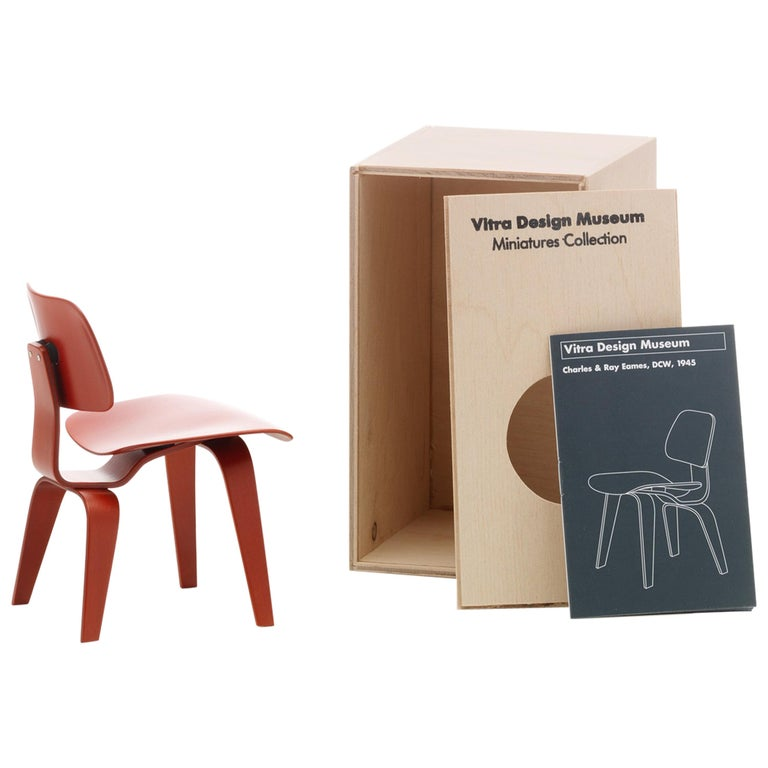 Vitra Miniature DCW Chair in Red by Charles & Ray Eames For Sale