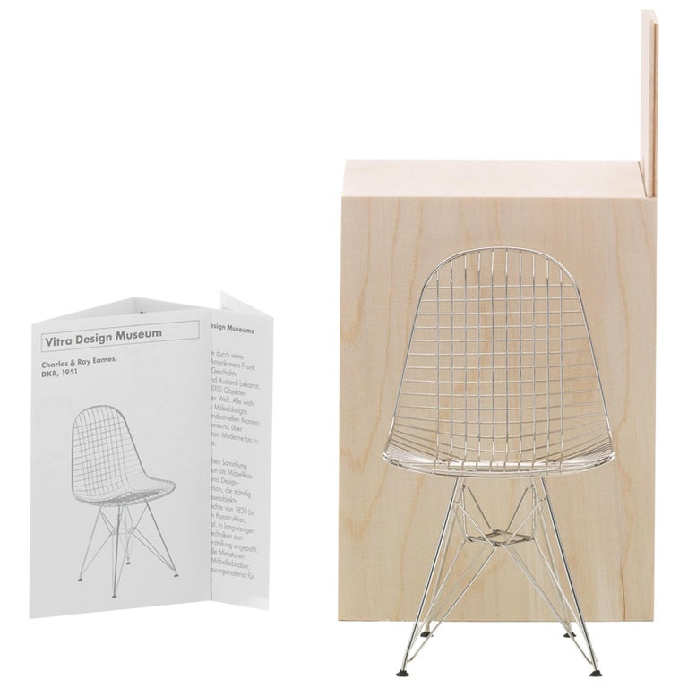 "Vitra Miniature DKR ""Wire Chair"" by Charles & Ray Eames For Sale"