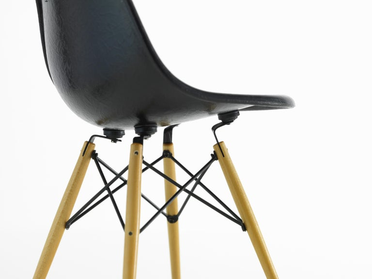 Modern Vitra Miniature DSW Chair in Black by Charles & Ray Eames For Sale