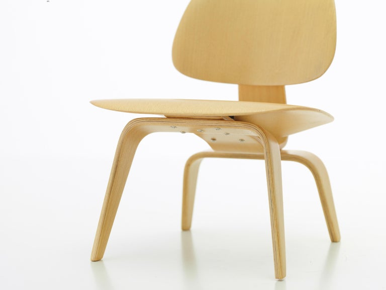 Modern Vitra Miniature LCW Chair in Natural by Charles & Ray Eames For Sale