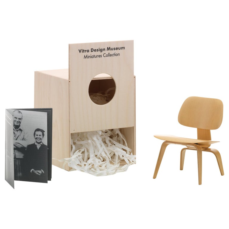 Vitra Miniature LCW Chair in Natural by Charles & Ray Eames For Sale