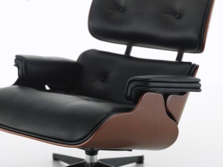 Modern Vitra Miniature Lounge Chair and Ottoman by Charles & Ray Eames For Sale