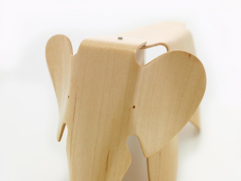 These items are currently only available in the United States.  The plywood elephant holds a prominent place among the plywood pieces designed by the Eameses. In the early 1940s Charles and Ray Eames successfully developed an innovative method for