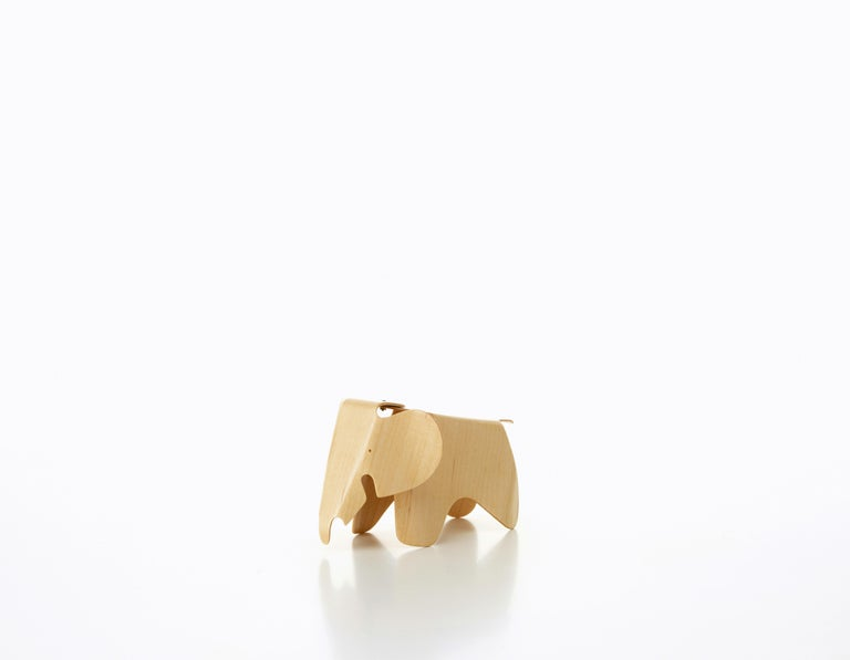 Modern Vitra Miniature Plywood Elephant Natural by Charles & Ray Eames For Sale