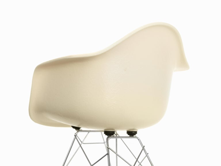 These items are currently only available in the United States.  The fiberglass chairs are rare examples of a satisfying synthesis of formal and technical innovation. For the first time in the history of design, Charles and Ray Eames utilized the
