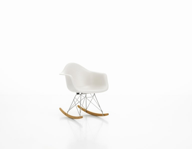 Modern Vitra Miniature RAR Chair in White by Charles & Ray Eames For Sale