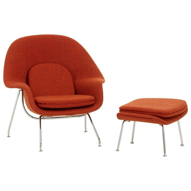 Vitra Miniatures Womb Chair and Ottoman by Eero Saarinen, 1948 For Sale
