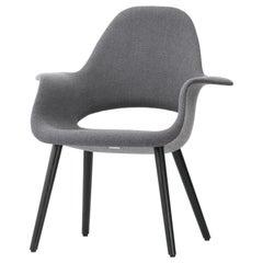 Vitra Organic Stuhl in Dunkelblau und Elfenbein von Charles Eames & Eero Saarinen