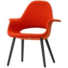 Vitra Organic Chair in Red Hopsack & Black Ash by Charles Eames & Eero Saarinen