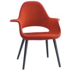 Vitra Organic Chair in Red Tonus & Black Ash by Charles Eames & Eero Saarinen