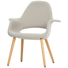 Vitra Organic Chair in Rock Credo and Oak by Charles Eames & Eero Saarinen