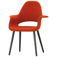 Vitra Organic Conference Chair in Red & Cognac by Charles Eames & Eero Saarinen