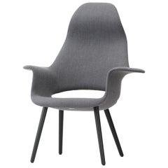 Vitra Organic Stuhl in Blau & Elfenbein mit hoher Lehne, von Charles Eames & Eero Saarinen