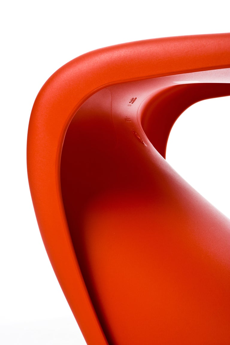 Molded Vitra Panton Chair in Classic Red by Verner Panton For Sale