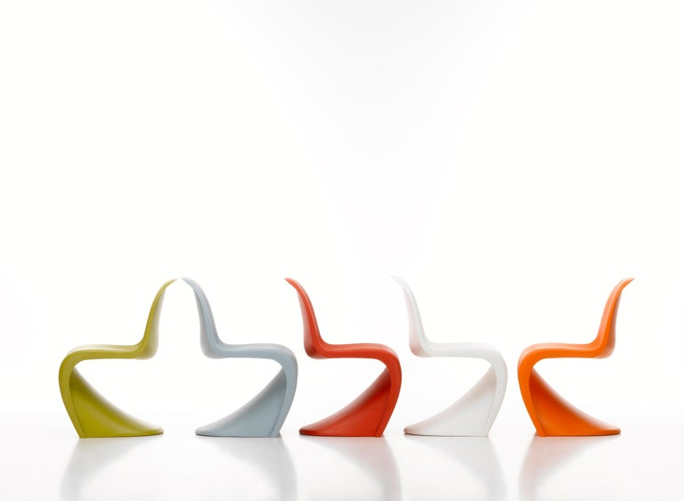 Resin Vitra Panton Chair in Classic Red by Verner Panton For Sale