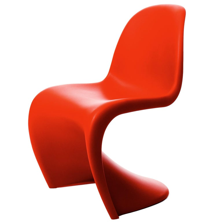 Vitra Panton Chair in Classic Red by Verner Panton For Sale