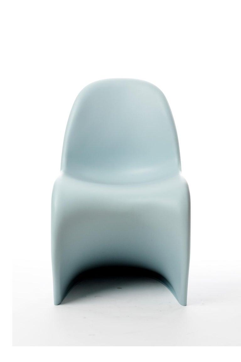 Modern Vitra Panton Chair in Ice Grey by Verner Panton For Sale