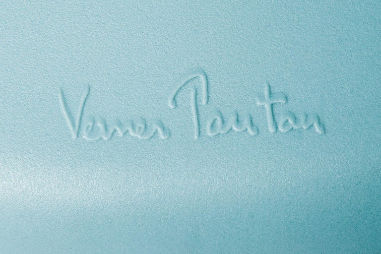 Molded Vitra Panton Chair in Ice Grey by Verner Panton For Sale