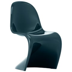 Vitra Panton Chair in Lacquered Petrol Blue by Verner Panton