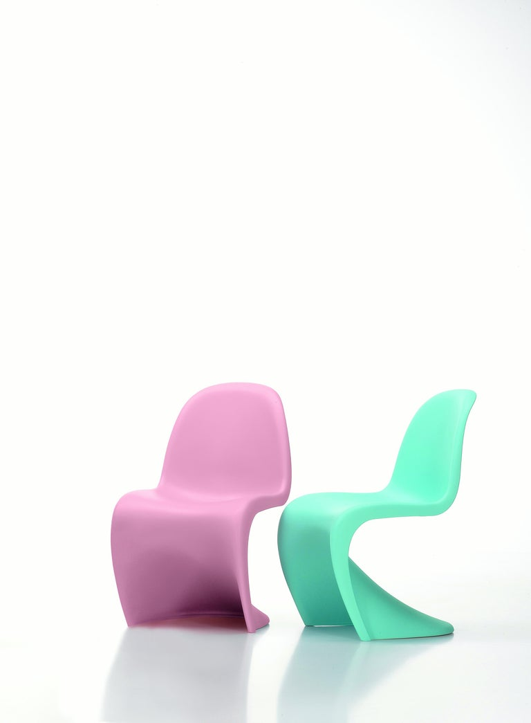 Swiss Vitra Panton Junior Chair in Light Pink by Verner Panton For Sale