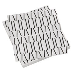 Limited Edition Vitra Paper Napkins in Black Broken Lines by Alexander Girard
