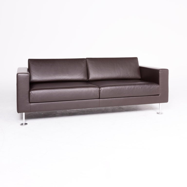 Tremendous Vitra Park Designer Leather Sofa Brown Genuine Leather Three Gmtry Best Dining Table And Chair Ideas Images Gmtryco