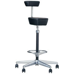 Vitra Perch High Stool in Black by George Nelson