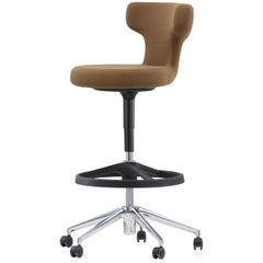 Vitra Pivot High Stool in Brown Single Knit by Antonio Citterio