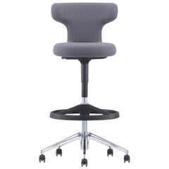 Vitra Pivot High Stool in Dark Grey Single Knit by Antonio Citterio