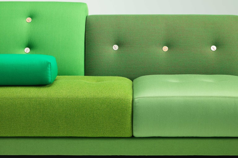 Vitra Polder Sofa in Green Shades by Hella Jongerius For Sale 3