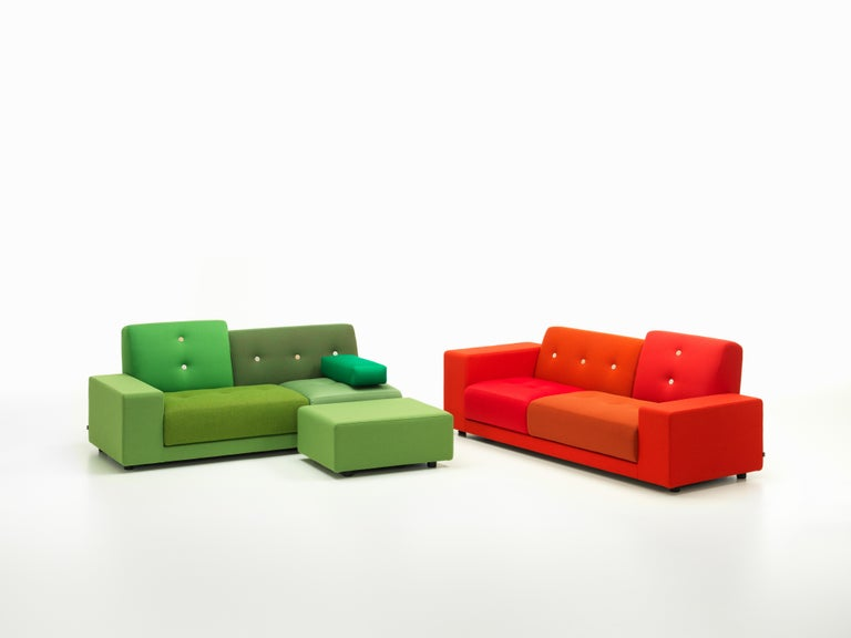 Vitra Polder Sofa in Green Shades by Hella Jongerius For Sale 4