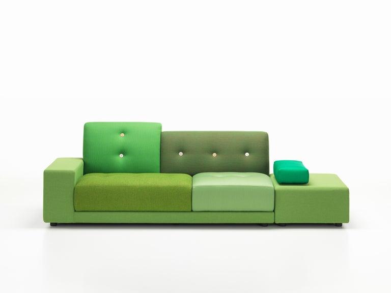 Modern Vitra Polder Sofa in Green Shades by Hella Jongerius For Sale