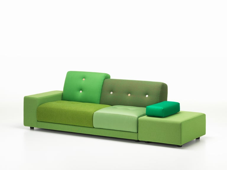 Swiss Vitra Polder Sofa in Green Shades by Hella Jongerius For Sale