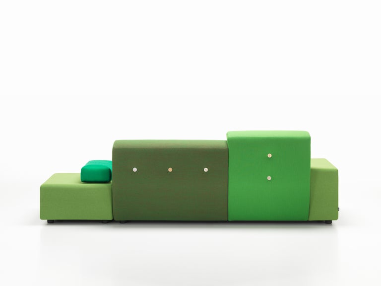 Vitra Polder Sofa in Green Shades by Hella Jongerius In New Condition For Sale In New York, NY