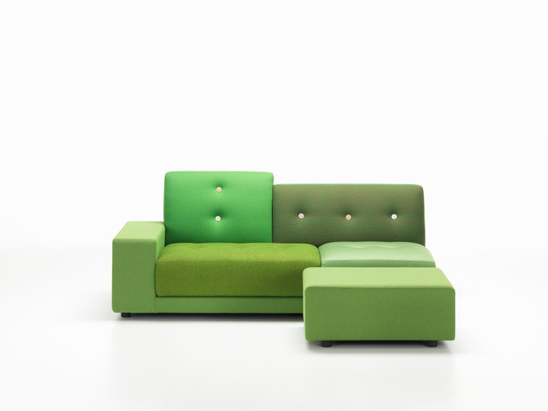Upholstery Vitra Polder Sofa in Green Shades by Hella Jongerius For Sale