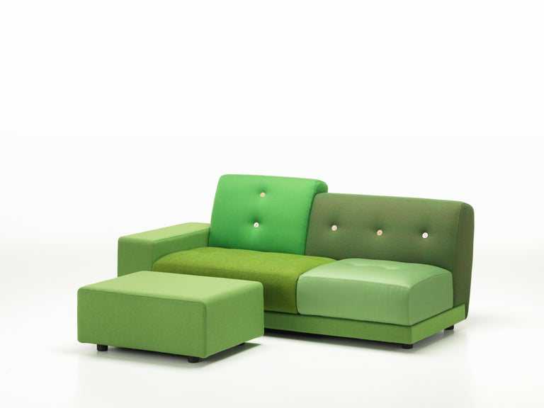 Vitra Polder Sofa in Green Shades by Hella Jongerius For Sale 1