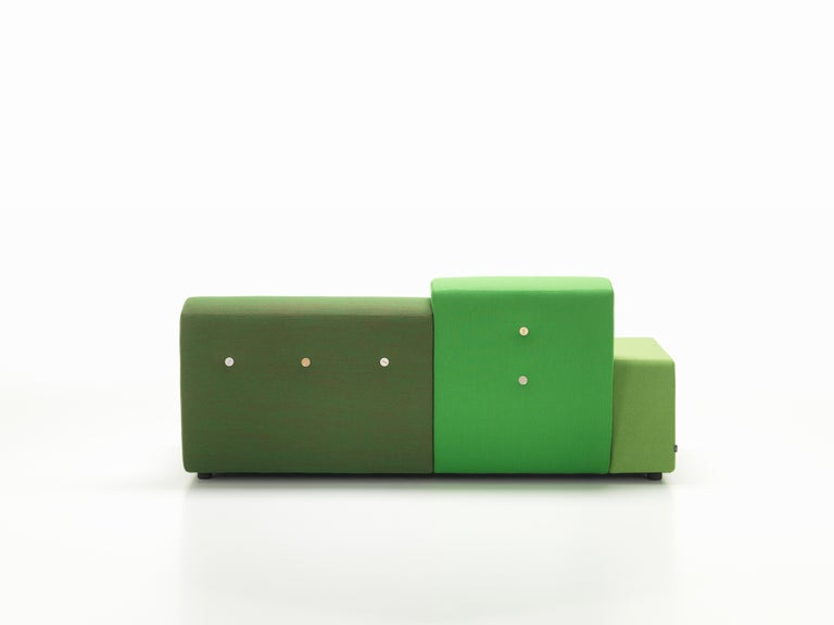 Vitra Polder Sofa in Green Shades by Hella Jongerius For Sale 2