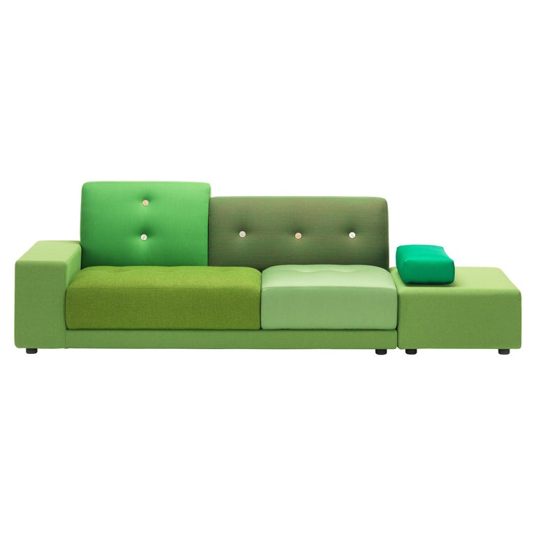 Vitra Polder Sofa in Green Shades by Hella Jongerius For Sale