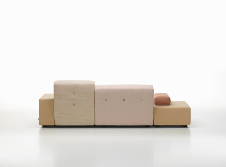 Modern Vitra Polder Sofa in Pastel Shades by Hella Jongerius For Sale